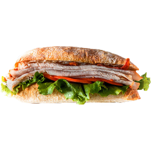 Turkey Club - Turkey Breast, BAcon, Lettuce, Tomato, Mayo