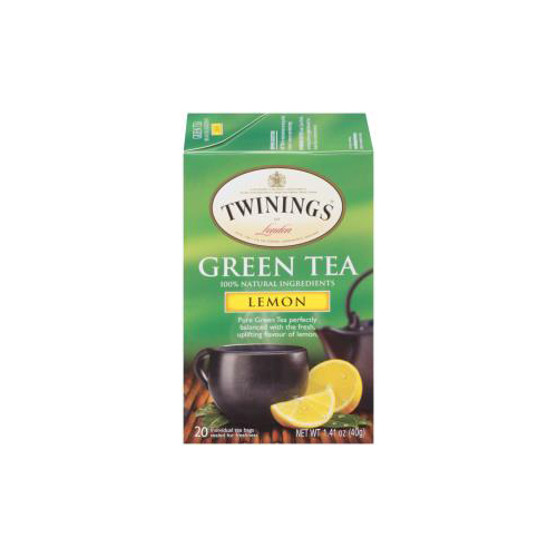 TWININGS GREEN TEA LEMON 20pc