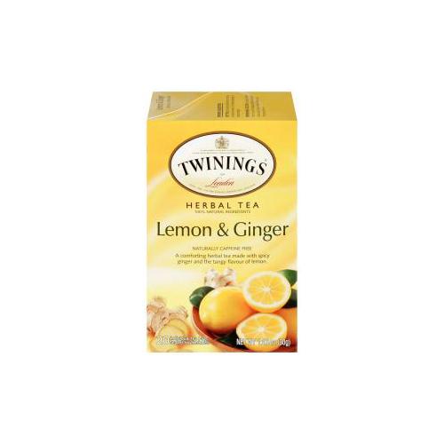 TWININGS HERBAL TEA LEMON & GINGER 20pc