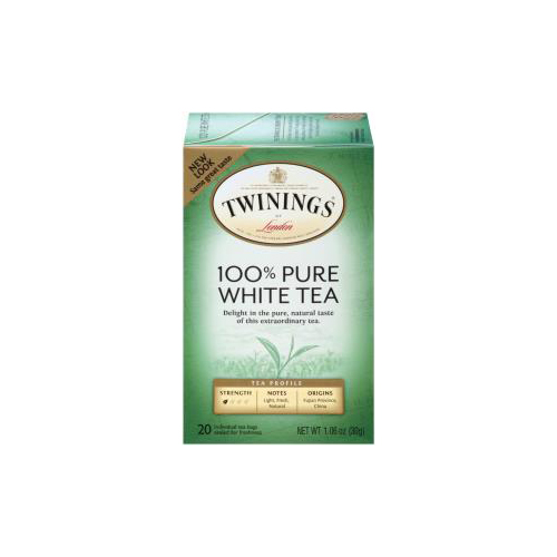 TWININGS PURE WHITE TEA 20pc