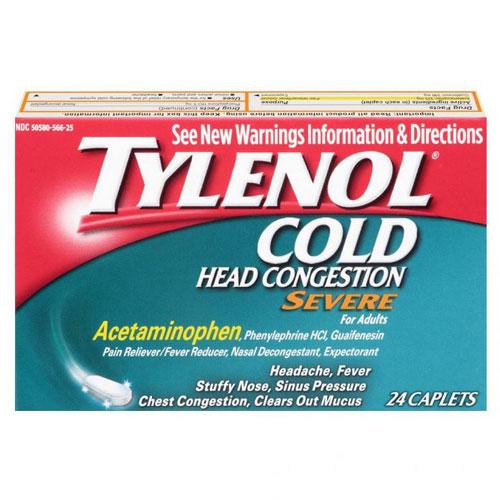 TYLENOL COLD+FLU SEVERE 24cap