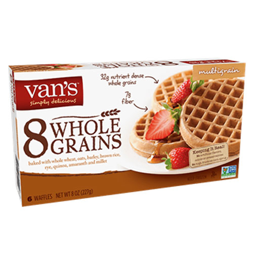 VANS ORGANC WAFFLES WHOLE GRAIN 8oz
