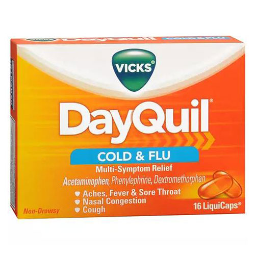 VICKS DAYQUIL COLD & FLU 16liquicaps