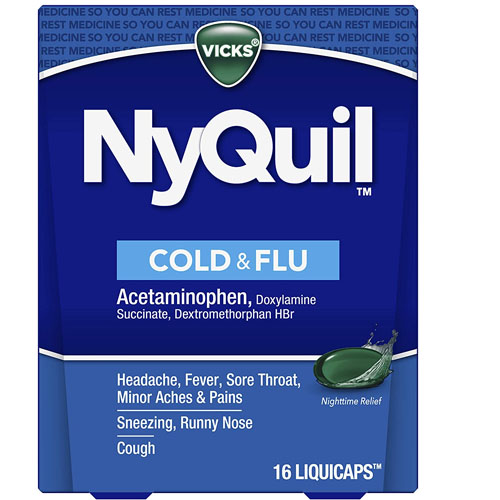 VICKS NYQUIL COLD & FLU 16liquicaps
