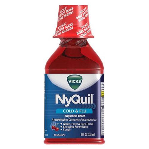 VICKS  NYQUIL COLD & FLU CHERRY 8oz