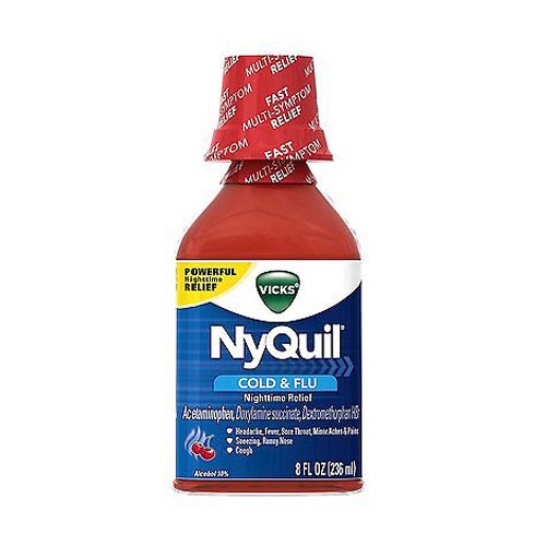 VICKS NYQUIL COUGH CHERRY 8oz