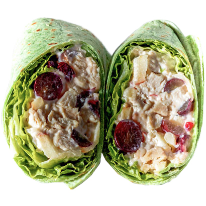 Waldrof Wrap  (Chicken Salad, Walnut, Romaine, Red Grapes, Green Apple )