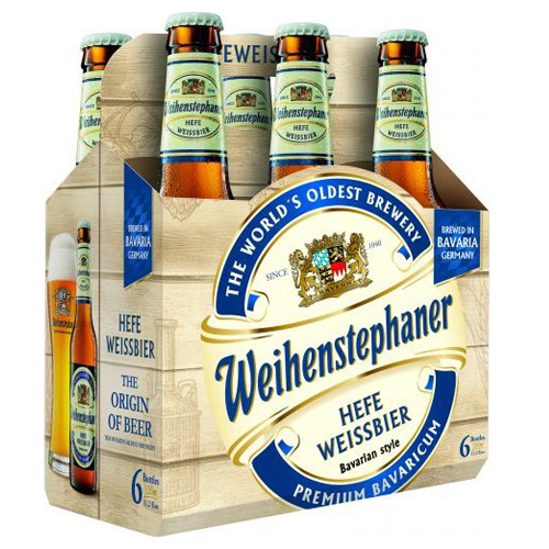 WEIHENSTEPHANER GERMAN BEER 11.2oz 6pk.