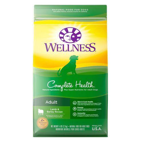 WELLNESS COMPLETE HEALTH ADULT LAMB & BARLEY RECIPE 5lb