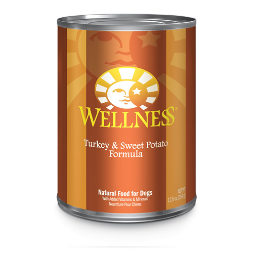 WELLNESS DOG FOOD TURKEY & SWEET POTATO 12.5oz.