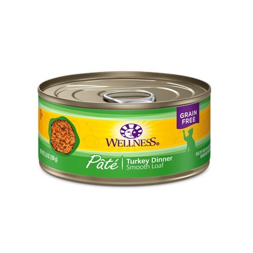 WELLNESS GRAIN FREE CAT FOOD PATE TURKEY DINNER 5.5oz