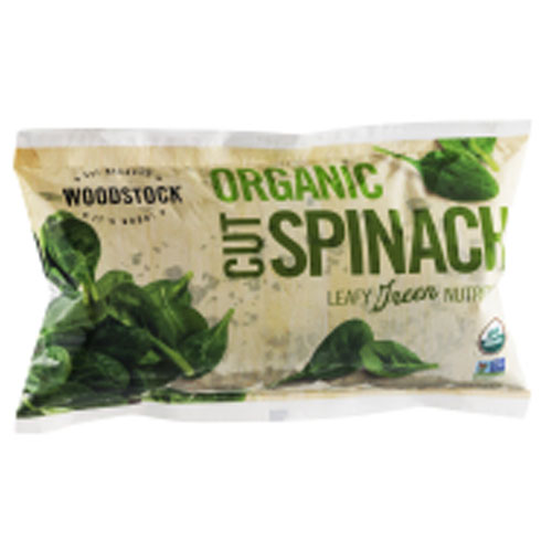 WOODSTOCK ORGANIC CUT SPINACH 10oz