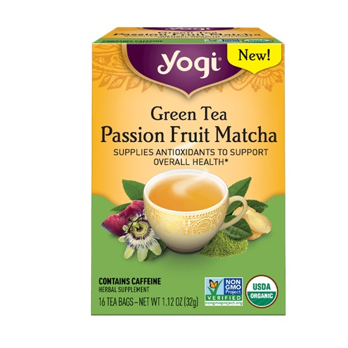 YOGI TEA GREEN TEA PASSION FRUIT MATCHA 16bags