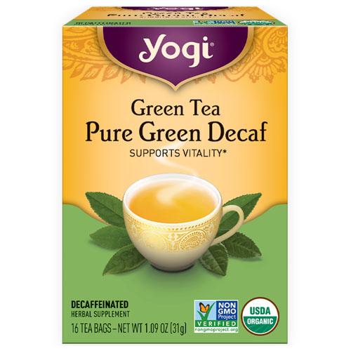YOGI TEA PURE GREEN DECAF 16bags