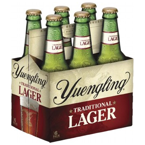 YUENGLING TRADITIONAL LAGER 12oz 6pk.