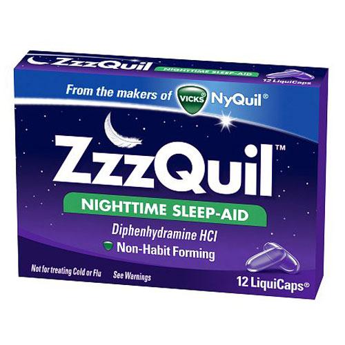 ZZZQUIL NIGHTTIME SLEEP-AID 12liquicaps